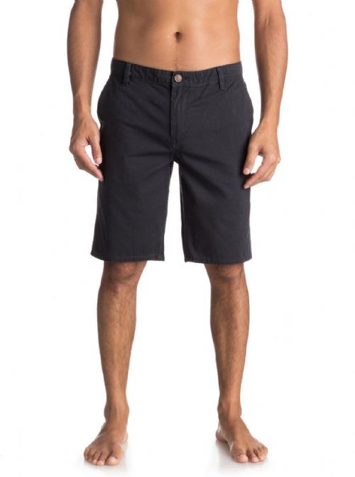 "QUIKSILVER MENS SHORTS.EVERYDAY 21"" CHINO BLACK COTTON WALK BOTTOMS 8S 468 KTAO"